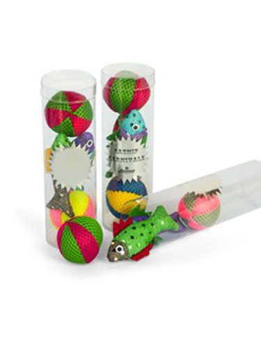 "<p>Bring the beach to your kitty with <strong>Creature Comforts Catnip Carnivale</strong> toys <em>($17.50 per tube; </em><a href=""http://eplanetpetshop.com/Catnip-Carnivale.htm"" target=""_blank""><em>ePlanetPetShop.com</em></a>).</p>"