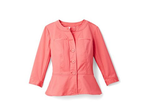 "<p>Get more out of your breezy blouses by throwing a cute cropped jacket on top. <em>Joan Rivers Peplum Jacket with ¾ Sleeves, $55; </em><a href=""http://www.qvc.com/"" target=""_blank""><em>QVC.com</em></a></p>"