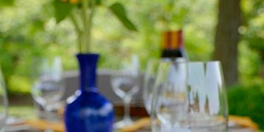 """<p>China isn't just for the holidays; dust off your dishes and give them some fresh air! Set a beautiful table outdoors and <a href=""""http://www.womansday.com/food-recipes/cooking-tips-shortcuts/cooking-for-a-crowd"""" target=""""_blank"""">host a dinner party</a> under the stars.  </p>"""