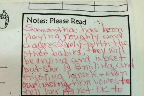 Daycare Note