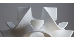 3D Systems' sugar-based printers aren't just creating food, they're creating art. The sweet, edible creations from their printers look more like sculptures than candy. And though they're marketed toward pastry chefs and bakers, their ChefJef series of printers are small enough to fit on a countertop.