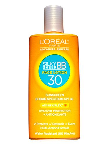 <p>Yes, you read that correctly—but only if you apply an SPF 30 or higher that moisturizes. Try L'Oréal Paris Advanced Suncare Silky Sheer BB Face Lotion SPF 30 ($9.99; at drugstores). It's formulated with vitamin E to promote healthy skin, and has a slight tint to even out your complexion.</p>