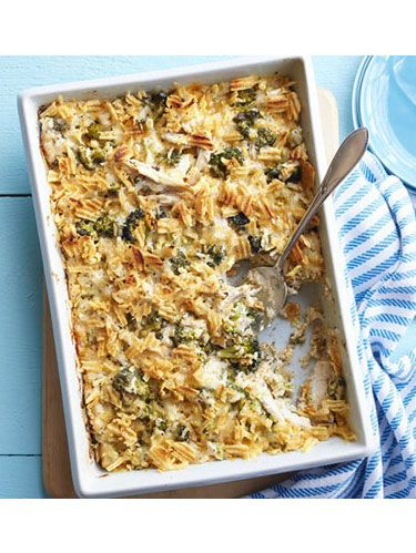 "<p>Trisha Yearwood uses pressure-cooked chicken breasts for the main ingredient in this dish. The rich casserole will feed a crowd or make great leftovers.</p> <p><strong><a href=""http://www.womansday.com/recipefinder/baked-broccoli-chicken-casserole-recipe-wdy0914"" target=""_self"">Get the recipe</a></strong></p>"
