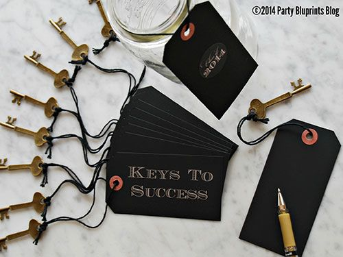 "<p>Create an <a href=""http://www.partybluprintsblog.com/party-themes/graduation-party-themes/graduation-party-idea-keys-success/"" target=""_blank"">interactive DIY station</a> for guests to share their wisdom with the guest of honor. Package the ""key""notes in a jar and gift it to the grad as a keepsake of their celebration.</p> <div> </div>"