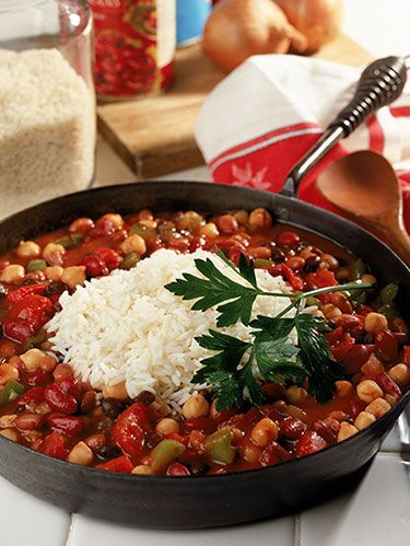 """<p>Make the most of Meatless Monday with this low-calorie dish. A flavorful combo of savory spices and tasty veggies will make this your go-to chili recipe in no time. </p> <p><a href=""""http://www.womansday.com/recipefinder/vegetarian-chili-recipe-120262"""" target=""""_self""""><strong>Get the recipe</strong></a></p>"""