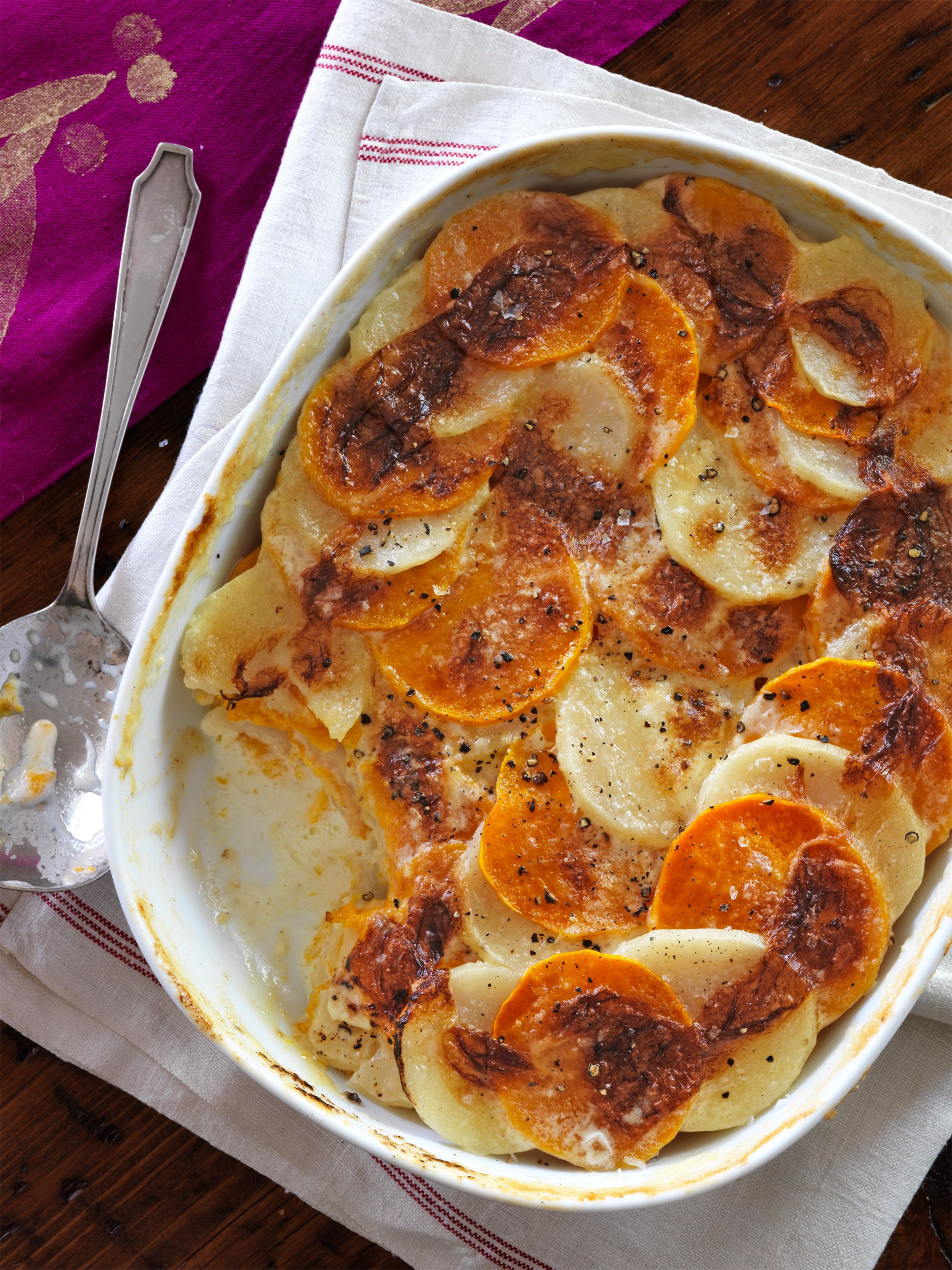 Potato and Butternut Squash Gratin
