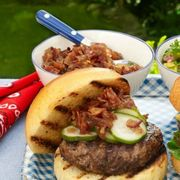 4th of july menu   clinton burger with bacon jam