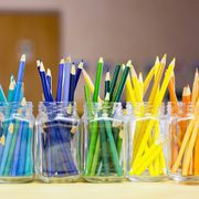 Yellow, Stationery, Writing implement, Glass, Drinking straw, Candle,
