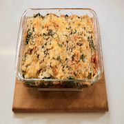 bbq sweet tater and chicken enchilada stack