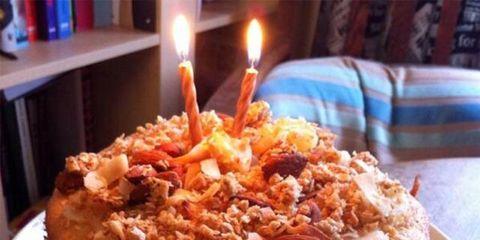Lighting, Food, Cuisine, Sweetness, Ingredient, Dessert, Cake, Dish, Baked goods, Birthday candle,