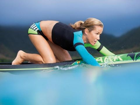 Fun, Recreation, Leisure, Elbow, People in nature, Knee, Vacation, Aqua, Thigh, Surfboard,