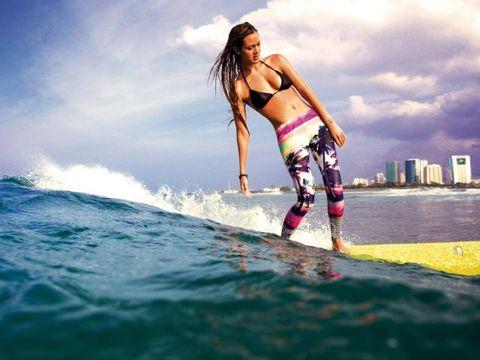 Surfboard, Surfing Equipment, Surface water sports, Leisure, People in nature, Summer, Waist, Boardsport, Vacation, Beauty,