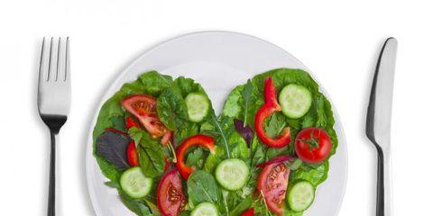 Dishware, Food, Vegetable, Tableware, Ingredient, Cutlery, Produce, Cuisine, Kitchen utensil, Leaf vegetable,