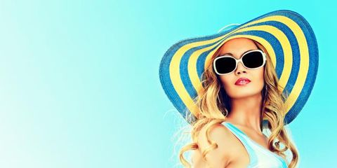 Clothing, Eyewear, Glasses, Vision care, Hairstyle, Hat, Sunglasses, Goggles, Style, Summer,