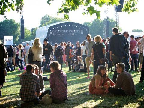 Crowd, Sharing, Lawn, Tent, Plaid, Tartan,