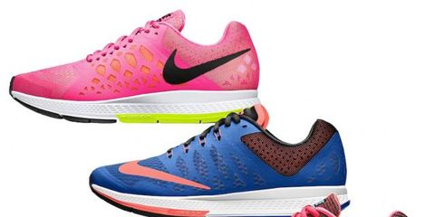 Footwear, Product, Blue, Shoe, Red, White, Sportswear, Magenta, Pink, Pattern,