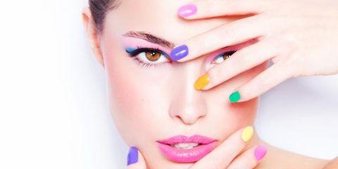 Finger, Lip, Skin, Eyebrow, Eyelash, Nail, Liquid, Manicure, Nail care, Style,