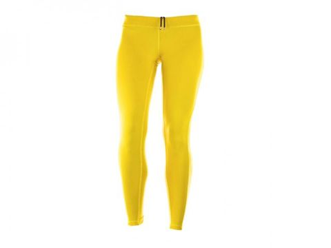 Yellow, Standing, Amber, Active pants, Waist, Pocket, Tights, Leggings, sweatpant,