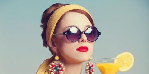 Eyewear, Vision care, Glasses, Yellow, Fruit, Fashion accessory, Tableware, Sunglasses, Goggles, Citrus,