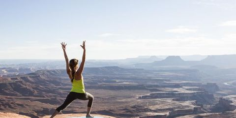 Human leg, Active pants, Exercise, People in nature, yoga pant, Vacation, Knee, Physical fitness, Geology, Formation,
