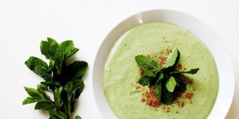 Dish, Food, Cuisine, Ingredient, Velouté sauce, Basil, Purée, Green sauce, Produce, Soup,