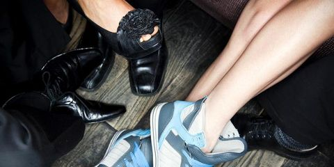 Footwear, Human, Shoe, Fashion, Black, Leather, Nail, Walking shoe, Dress shoe, Synthetic rubber,