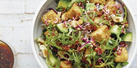 Dish, Food, Cuisine, Salad, Garden salad, Ingredient, Vegetable, Produce, Cruciferous vegetables, Leaf vegetable,