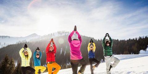 Winter, Freezing, Snow, Sportswear, Jacket, Active pants, Adventure, Hood, Ice, Outdoor shoe,
