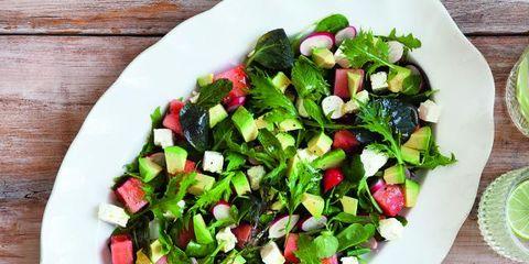 Dish, Food, Cuisine, Garden salad, Vegetable, Salad, Ingredient, Leaf vegetable, Spinach salad, Plant,