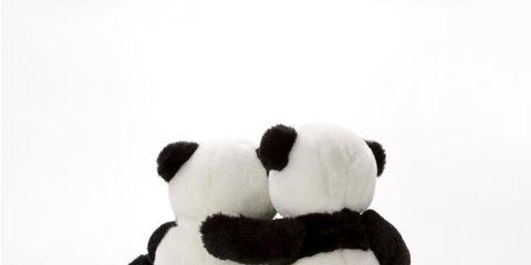 Toy, Stuffed toy, Textile, White, Terrestrial animal, Plush, Beige, Fur, Animal figure, Flightless bird,