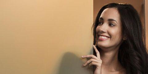 Lip, Mouth, Hairstyle, Skin, Chin, Eyebrow, Eyelash, Happy, Facial expression, Beauty,