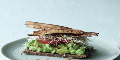 Food, Dishware, Leaf, Plate, Ingredient, Finger food, Serveware, Cuisine, Leaf vegetable, Tableware,