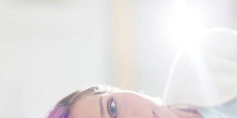 Lip, Cheek, Skin, Eyebrow, Eyelash, Comfort, Beauty, Lavender, Photography, Blond,