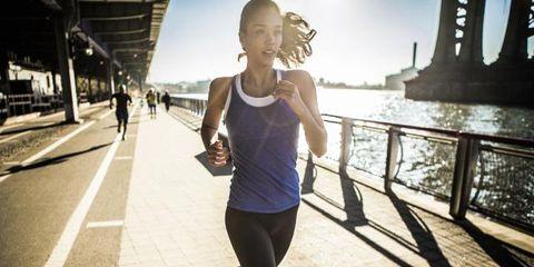 Human leg, Active pants, Sleeveless shirt, Running, Thigh, Knee, Jogging, Waist, Tights, Physical fitness,