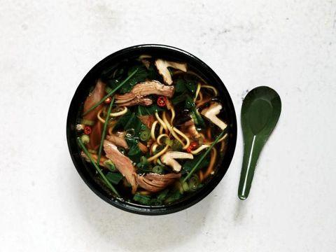 Food, Ingredient, Cuisine, Produce, Recipe, Soup, Cooking, Kitchen utensil, Spoon, Leaf vegetable,