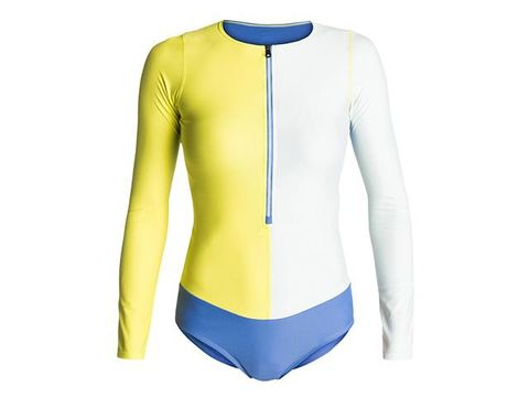 Blue, Yellow, Sleeve, Shoulder, Sportswear, Textile, Collar, Electric blue, Neck, Azure,