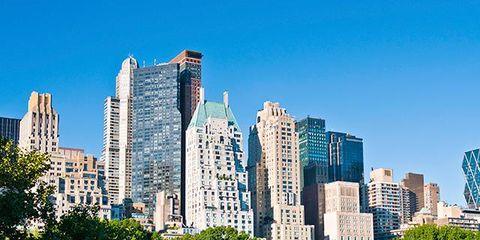 Vegetation, Blue, Tower block, Daytime, Metropolitan area, Urban area, City, Metropolis, Property, Neighbourhood,