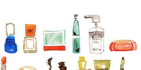 Product, Bottle, Barware, Drinkware, Glass bottle, Artwork, Illustration, Drawing, Distilled beverage, Peach,