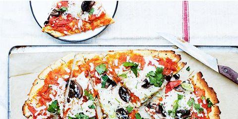 Food, Cuisine, Ingredient, Pizza, Dish, Plate, Recipe, Dishware, Garnish, Fast food,
