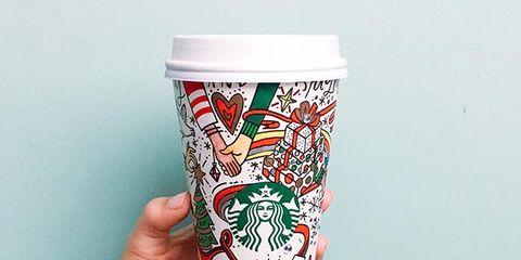Drinkware, Mug, Cup, Coffee cup, Coffee cup sleeve, Cup, Tableware, Hand, Font, Tumbler,