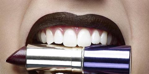 Lip, Brown, Skin, Tooth, Purple, Violet, Eyelash, Jaw, Organ, Lavender,