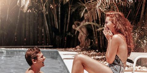 Swimming pool, Fun, Leisure, Vacation, Leg, Water, Bikini, Summer, Sitting, Photography,