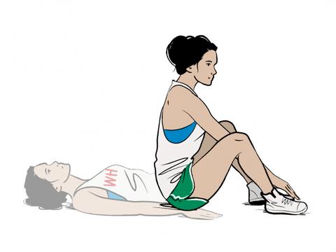 Human leg, Human body, Elbow, Shoulder, Wrist, Joint, Sitting, Knee, Waist, Exercise,