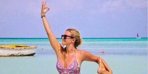 Clothing, Swimwear, Vacation, One-piece swimsuit, Bikini, Summer, Maillot, Fun, Monokini, Physical fitness,