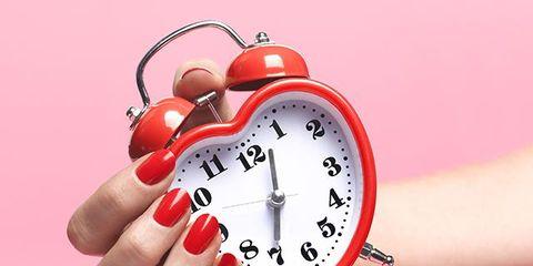 Finger, Skin, Pink, Wrist, Watch, Nail, Clock, Circle, Peach, Alarm clock,