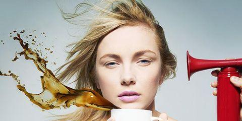Lip, Hairstyle, Eyebrow, Eyelash, Beauty, Carmine, Long hair, Blond, Hair care, Cosmetics,