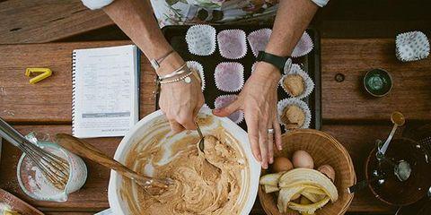 Table, Wrist, Dishware, Watch, Noodle, Plate, Cuisine, Thumb, Kitchen utensil, Lamian,