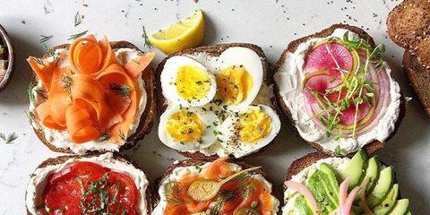 Dish, Food, Cuisine, Ingredient, Bruschetta, appetizer, Brunch, Finger food, Hors d'oeuvre, Produce,