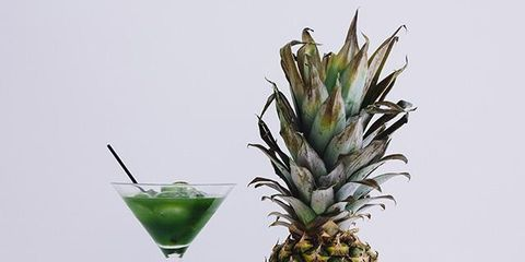 Green, Ananas, Pineapple, Drink, Drinkware, Liquid, Produce, Cocktail, Alcoholic beverage, Fruit,
