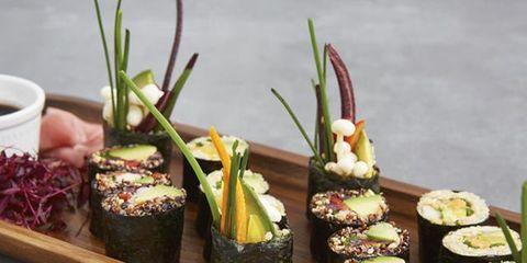 Cuisine, Food, Ingredient, Finger food, Sushi, Dish, Gimbap, Garnish, Recipe, Side dish,